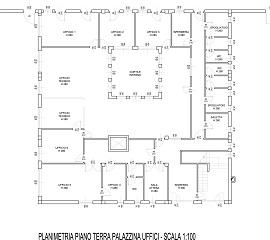 Pianta piano terra palazzina uffici